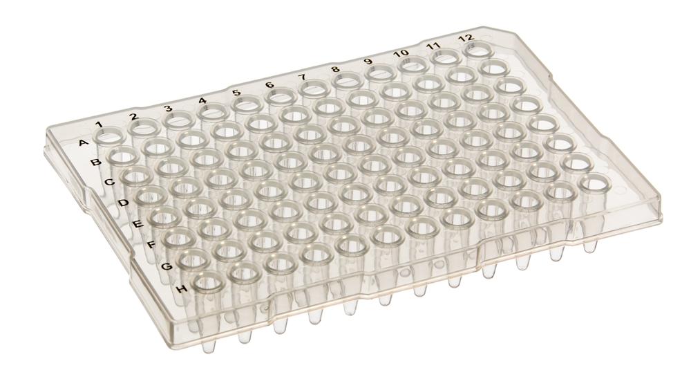 96 Well Semi-Skirt PCR Plates, Full Rim, 25/Pack