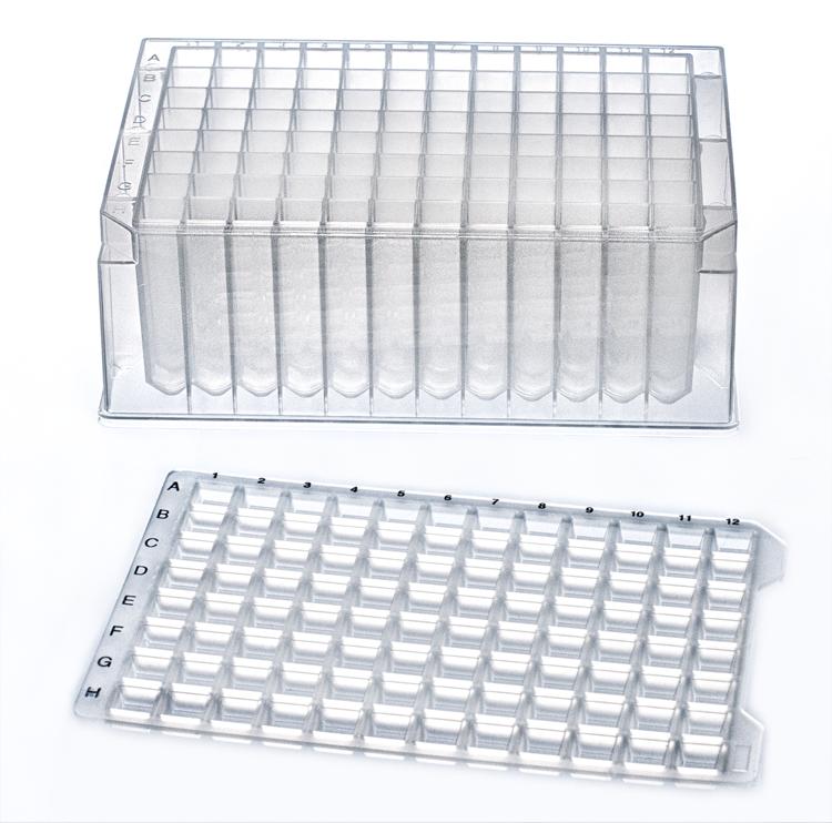 2mL 96-W Deep Well Plate, Round Bottom, Sterile, 50/Case