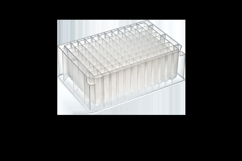 2mL 96-W Deep Well Plate, Square, V-Bottom, Sterile, 50/Case