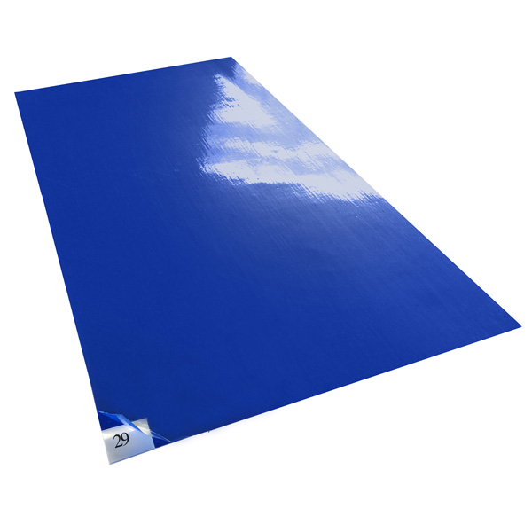 Tacky Traxx, Blue, 18''x36'', 30 Sheets/Mat, 4 Mats/Case