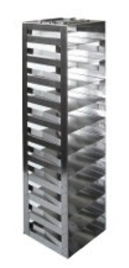 "Vertical Racks with Spring Clip for 2"" Boxes with Locking Rod (Capacity: 11 Boxes)"