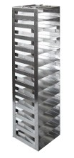 "Vertical Racks with Spring Clip for 2"" Boxes with Locking Rod (Capacity: 12 Boxes)"