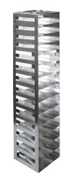 """Vertical Racks with Spring Clip for 2"""" Boxes with Locking Rod (Capacity: 14 Boxes)"""