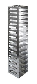 """Vertical Racks with Spring Clip for 2"""" Boxes with Locking Rod (Capacity: 15 Boxes)"""