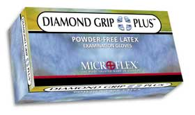 Diamond Grip Plus Latex Gloves
