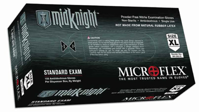 MidKnight Powder-Free Nitrile Gloves