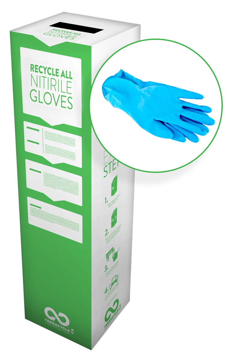 ZERO Waste Box for Recycling Nitrile Gloves