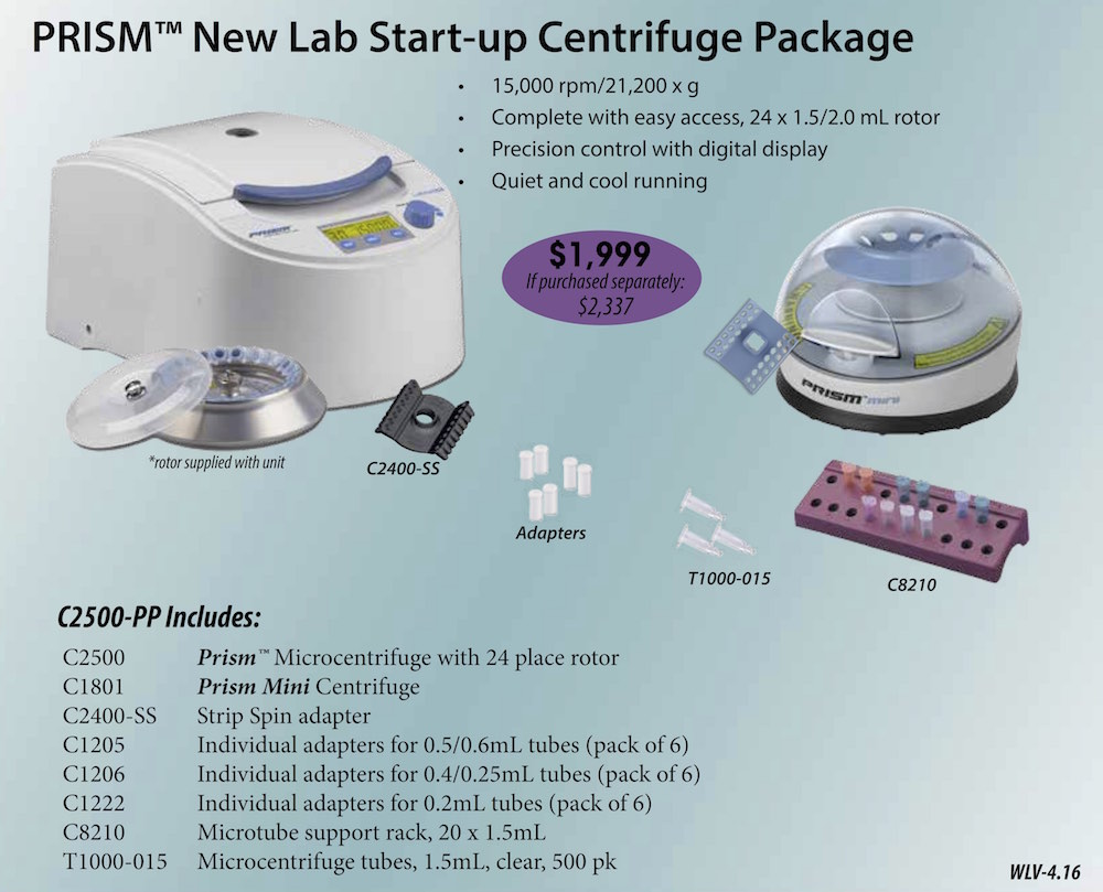 Prism New Lab Start-Up Package