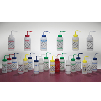 Wide-Mouth Bottles, Safety-Labeled