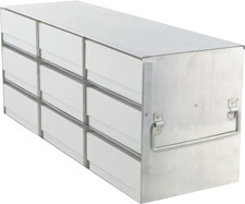 """Upright Freezer Rack for 2"""" Boxes (Capacity: 9 Boxes)"""