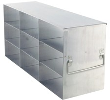 "Upright Freezer Rack for 3"" Boxes (Capacity: 9 Boxes)"