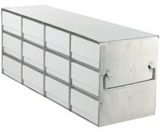 """Upright Freezer Rack for 2"""" Boxes (Capacity: 12 Boxes)"""
