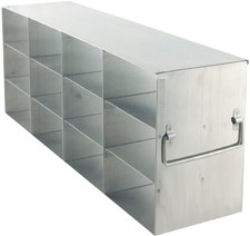 "Upright Freezer Rack for 3"" Boxes (Capacity: 12 Boxes)"