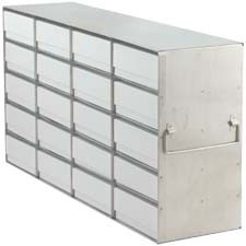 """Upright Freezer Rack for 2"""" Boxes (Capacity: 20 Boxes)"""