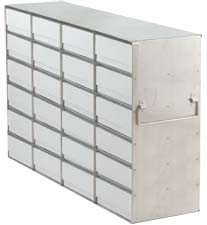 """Upright Freezer Rack for 2"""" Boxes (Capacity: 24 Boxes)"""