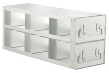 """Upright Freezer Drawer Rack for 3"""" Boxes (Capacity: 6 Boxes)"""