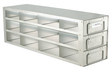 """Upright Freezer Drawer Rack for 2"""" Boxes (Capacity: 12 Boxes)"""
