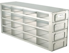 """Upright Freezer Drawer Rack for 2"""" Boxes (Capacity: 16 Boxes)"""