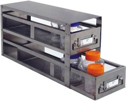 "Upright Freezer Drawer Rack for Bottles (Capacity: 25"" x 4 1/2"" -- 2 Drawers)"