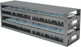 Upright Freezer Drawer Racks for 8mL - 10mL Blood Sample Tubes (Capacity: 120 Tubes)