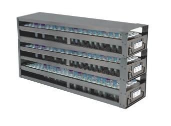 Upright Freezer Drawer Racks for 1mL Blood Sample Tubes (Capacity: 486 Tubes)