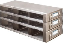 Upright Metal Freezer Drawer Racks for 96-Well and 384-Well Microtiter Plates (Capacity: 27-36 Plates)