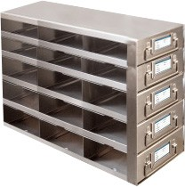 Upright Metal Freezer Drawer Racks for 96-Well and 384-Well Microtiter Plates (Capacity: 45-60 Plates)