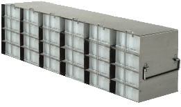 Upright Freezer Rack for 96 Deep-Well Microtiter Plates and Microtube Racks with Locking Rod, Rack Only, 6 Boxes Deep x 4 Boxes High