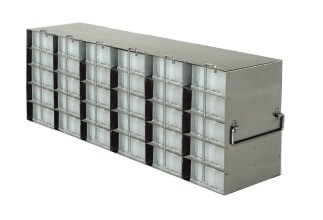 Upright Freezer Racks for 96-Deep Well Microtiter Plates and Micronic LOBO Racks with Locking Rod (Capacity: 30 Plates)