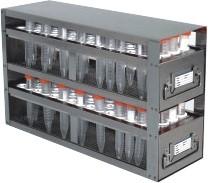 Upright Freezer Drawer Rack for 15mL Centrifuge Tubes (Capacity: 120 Tubes)