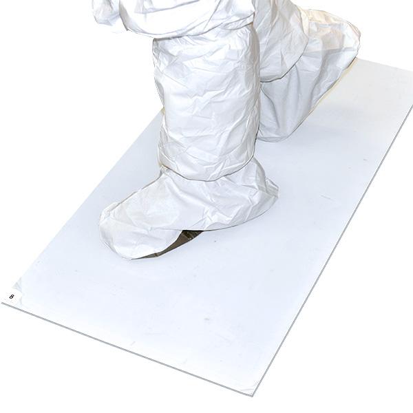 Tacky Traxx, White, 36'' x 60'', 30 Sheets/Mat, 4 Mats/Case