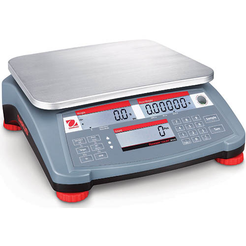 Ohaus Ranger Count 3000 Compact Bench Scale 6kg Capacity, 0.2g Readability