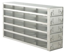 """Upright Freezer Drawer Rack for 2"""" Boxes (Capacity: 20 Boxes)"""