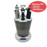 nUVaClean™ UV Pipette Carousel w/ germicidal UV lamp, for 6 universal pipettes