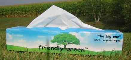 Friendly Green Laboratory Wipes, Large Box