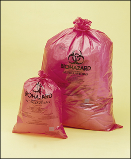 BIOHAZARD DISPOSAL BAGS - ORANGE-RED