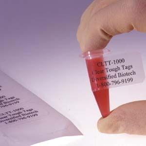 Cryo-Clear Laser Labels
