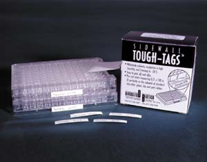 "Tough-Tags on a Roll (0.81"" x 0.28"" - WHITE ONLY)"