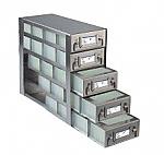 Upright Freezer Drawer Racks for 96 Deep-Well Microtiter Plates and Micronic LOBO Racks (Capacity: 20 Plates)