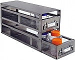 "Upright Freezer Drawer Rack for Bottles (Capacity: 20"" x 4 1/2"" -- 2 Drawers)"