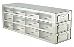 "Upright Freezer Drawer Rack for 3"" Boxes (Capacity: 12 Boxes)"