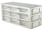 "Upright Freezer Drawer Rack for 2"" Boxes (Capacity: 9 Boxes)"