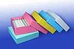 "2"" Assorted Color Cardboard Freezer Boxes"