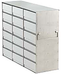 "Upright Freezer Rack for 2"" Boxes (Capacity: 18 Boxes)"
