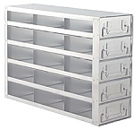 "Upright Freezer Drawer Rack for 2"" Boxes (Capacity: 15 Boxes)"