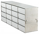 "Upright Freezer Rack for 2"" Boxes (Capacity: 16 Boxes)"