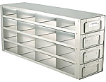 "Upright Freezer Drawer Rack for 2"" Boxes (Capacity: 16 Boxes)"
