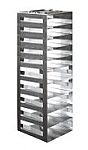 "Vertical Racks with Spring Clip for 2"" Boxes with Locking Rod (Capacity: 10 Boxes)"