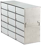 "Upright Freezer Rack for 2"" Boxes (Capacity: 15 Boxes)"