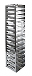 "Vertical Racks with Spring Clip for 2"" Boxes with Locking Rod (Capacity: 14 Boxes)"